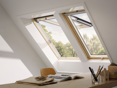 Klapp-Schwingfenster aus Holz